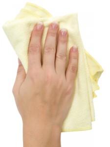 La microfibre permet de nettoyer écologiquement toute la maison