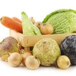 Caisse de légumes d'hiver
