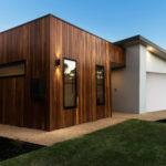 Extension avec toit plat en ossature bois